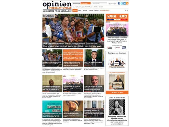 Главной новостью французского Opinion  Internationale стала статья об очередной провокации армянских войск против  мирных жителей азербайджанского села