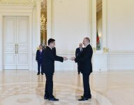 Ilham Aliyev receives credentials of incoming Turkmen envoy (PHOTO) - Gallery Thumbnail