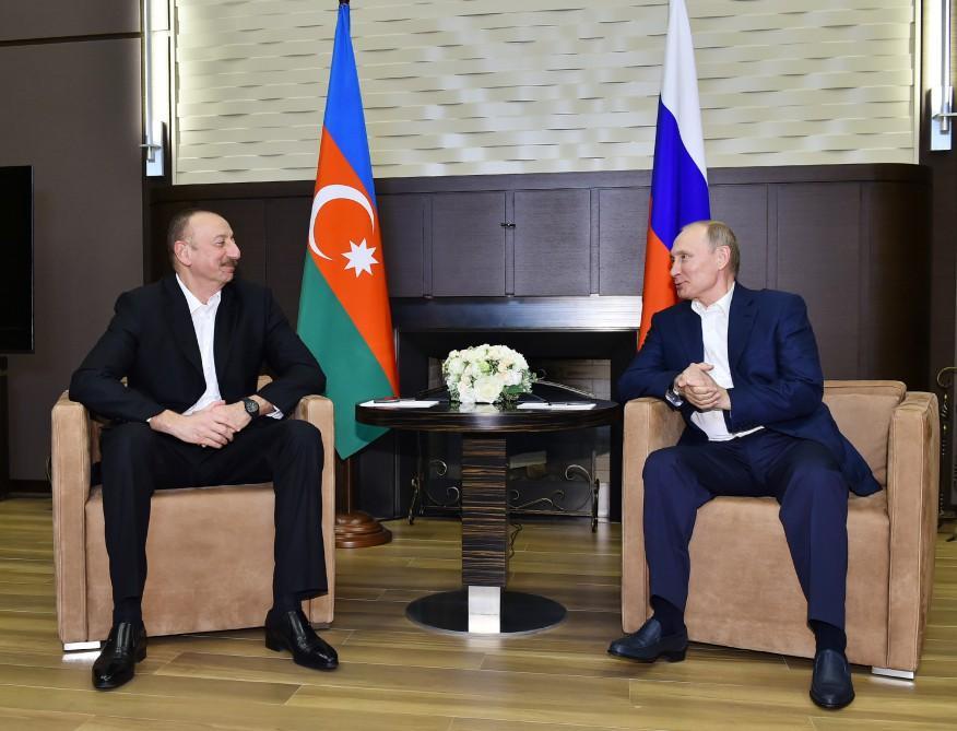 В Сочи состоялась встреча президентов Азербайджана и России (ФОТО) - Gallery Image