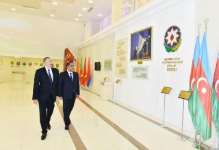 President Aliyev attends opening of Flag Museum in Balakan district (PHOTO)