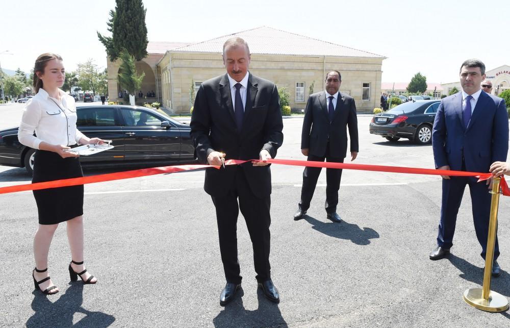 """Prezident İlham Əliyev Balakəndə """"ABAD Mərkəz""""in açılışında iştirak edib (FOTO) (YENİLƏNİB) - Gallery Image"""