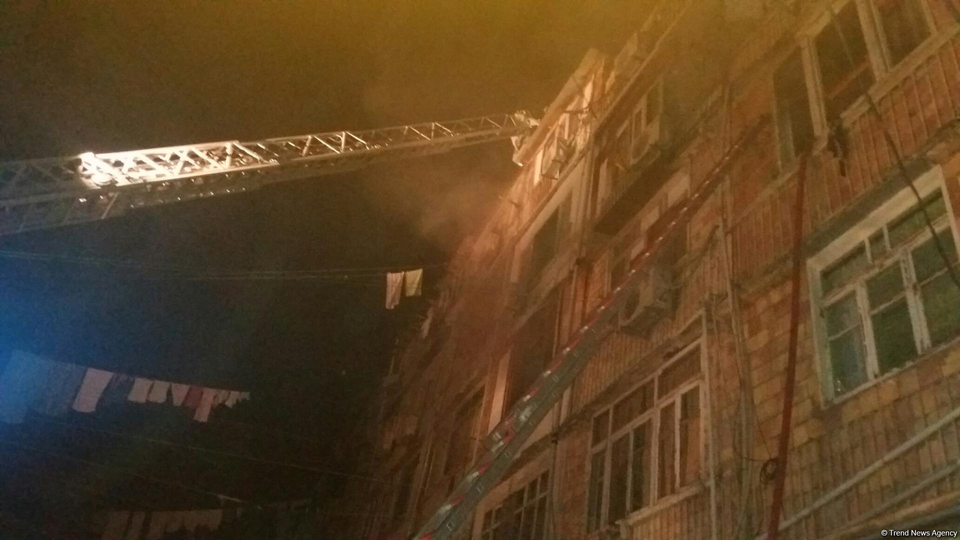Fire in dormitory in Sumgayit, casualties reported (PHOTO) - Gallery Image