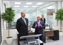 "President Ilham Aliyev attends opening of Shamkir Automated Management, Control Center of ""Azerishig"" OJSC (PHOTO) - Gallery Thumbnail"
