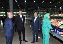 """Prezident İlham Əliyev """"Şəmkir Aqroparkı""""nın Logistika Mərkəzinin açılışında iştirak edib (FOTO) - Gallery Thumbnail"""