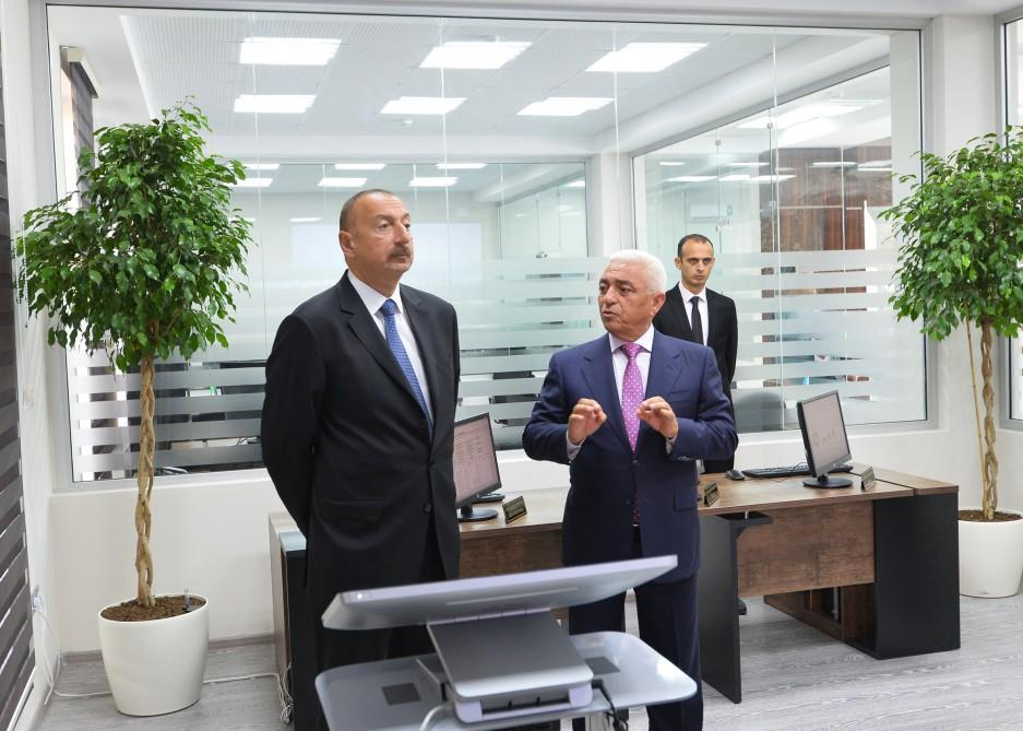 "President Ilham Aliyev attends opening of Shamkir Automated Management, Control Center of ""Azerishig"" OJSC (PHOTO)"