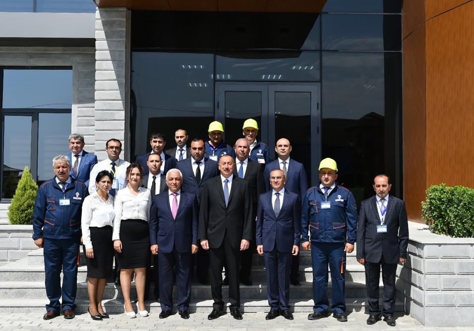 "President Ilham Aliyev attends opening of Shamkir Automated Management, Control Center of ""Azerishig"" OJSC (PHOTO) - Gallery Image"