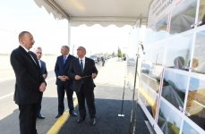 Ilham Aliyev attends opening of overhauled highway (PHOTO) - Gallery Thumbnail