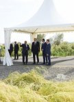 President Ilham Aliyev views rice paddies and opens rice plant in Lankaran (PHOTO) - Gallery Thumbnail