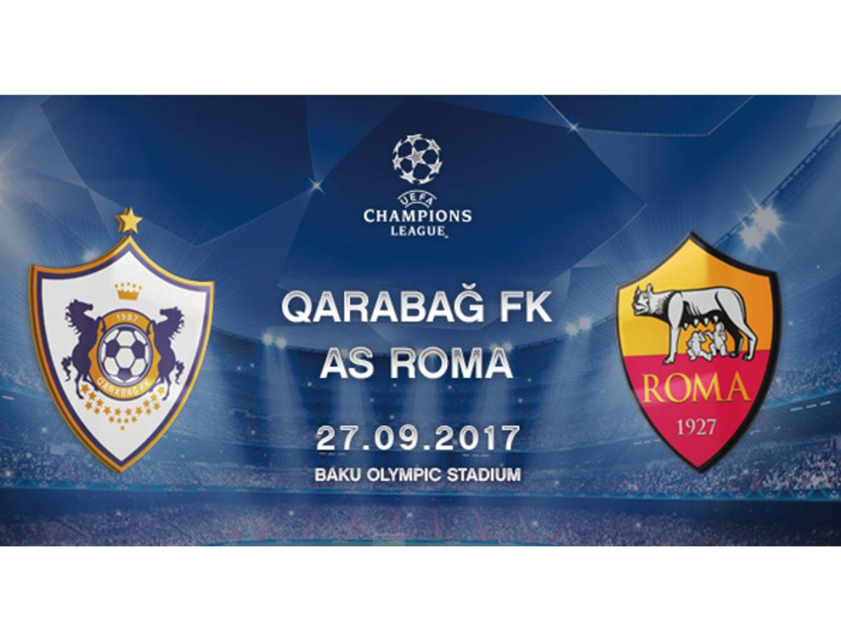 """""""Qarabağ"""" - """"Roma"""" oyununda anşlaq ola bilər"""