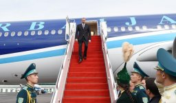 Ilham Aliyev arrives in Kazakhstan for OIC Science and Technology Summit (PHOTO) - Gallery Thumbnail