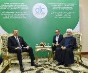 Ilham Aliyev meets with Iranian president in Astana (PHOTO) - Gallery Thumbnail