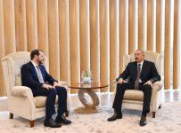 Azerbaijani president meets Turkish minister of energy, natural resources - Gallery Thumbnail