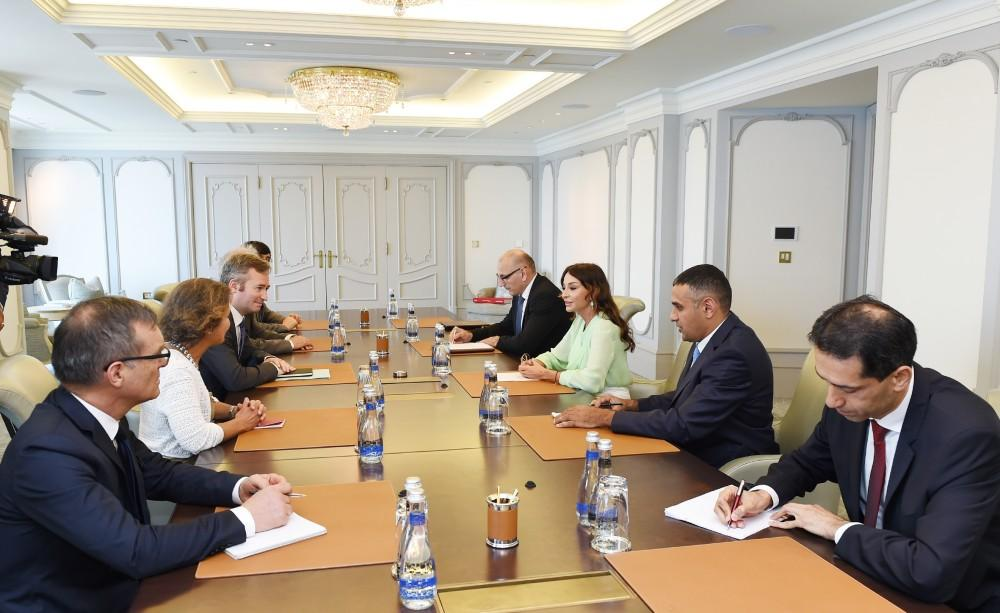 First VP Mehriban Aliyeva meets French minister of state