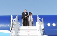 Ilham Aliyev with spouse arrive in US for 72nd session of UN General Assembly (PHOTO) - Gallery Thumbnail