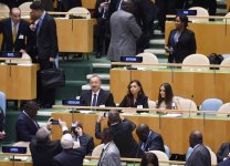President Ilham Aliyev, his spouse attend opening of General Debate at UN General Assembly in New York (PHOTO) - Gallery Thumbnail