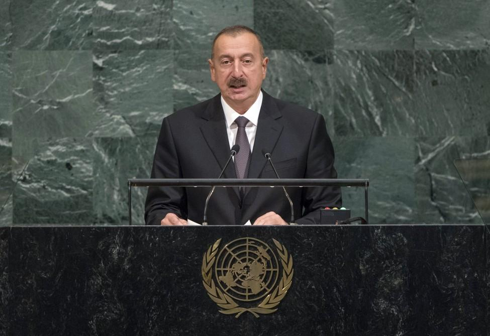 Ilham Aliyev, his spouse attend opening of 72nd Session of UN General Assembly (PHOTO)
