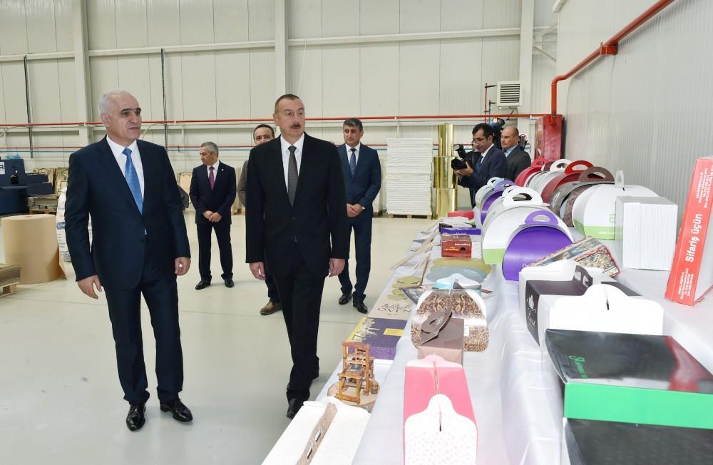 Prezident İlham Əliyev Balaxanı Sənaye Parkının açılışında iştirak edib (FOTO) (YENİLƏNİB) - Gallery Image