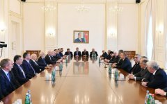 Ilham Aliyev receives heads of European Olympic Committees, int'l sports organizations (PHOTO) - Gallery Thumbnail
