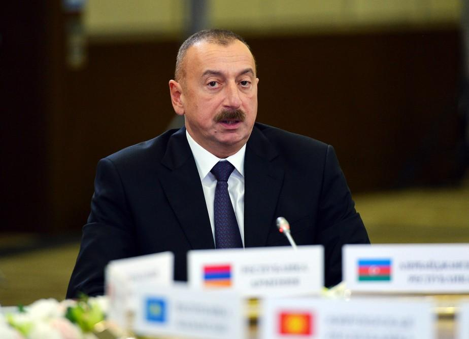 President Aliyev takes part in narrow format meeting of CIS Council of Heads of State (PHOTO)