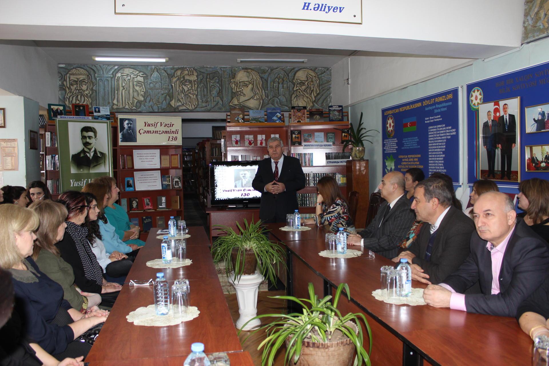 Выдающийся мастер слова: в Баку отметили 130-летие Юсифа Везира Чеменземинли  (ФОТО) - Gallery Image