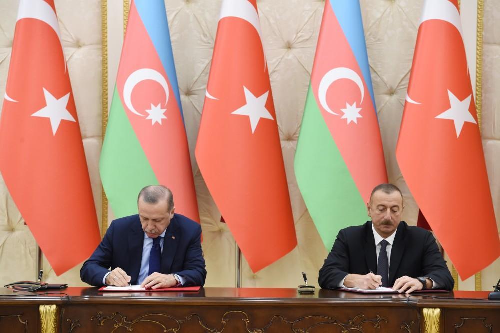 Azerbaijan, Turkey sign agreements (UPDATE)