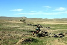 Azerbaijani Armed Forces conduct live-firing exercise (PHOTO) - Gallery Thumbnail