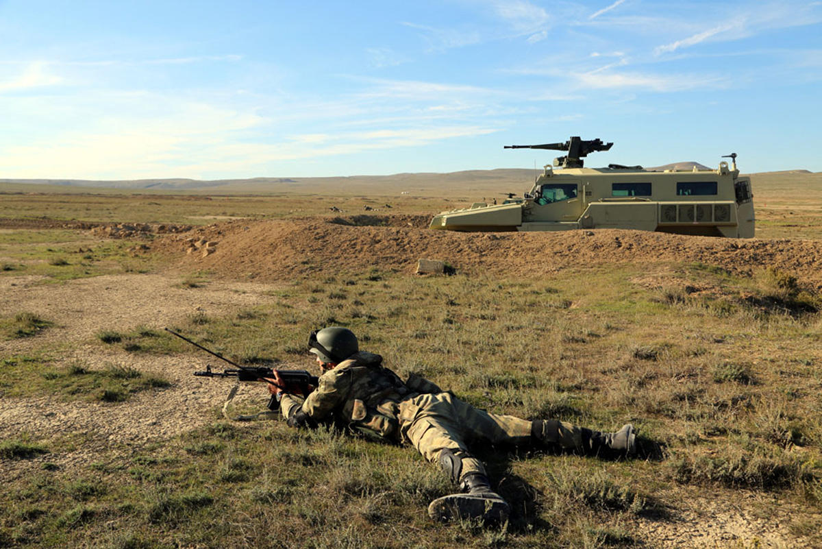 Azerbaijani Armed Forces conduct live-firing exercise (PHOTO) - Gallery Image