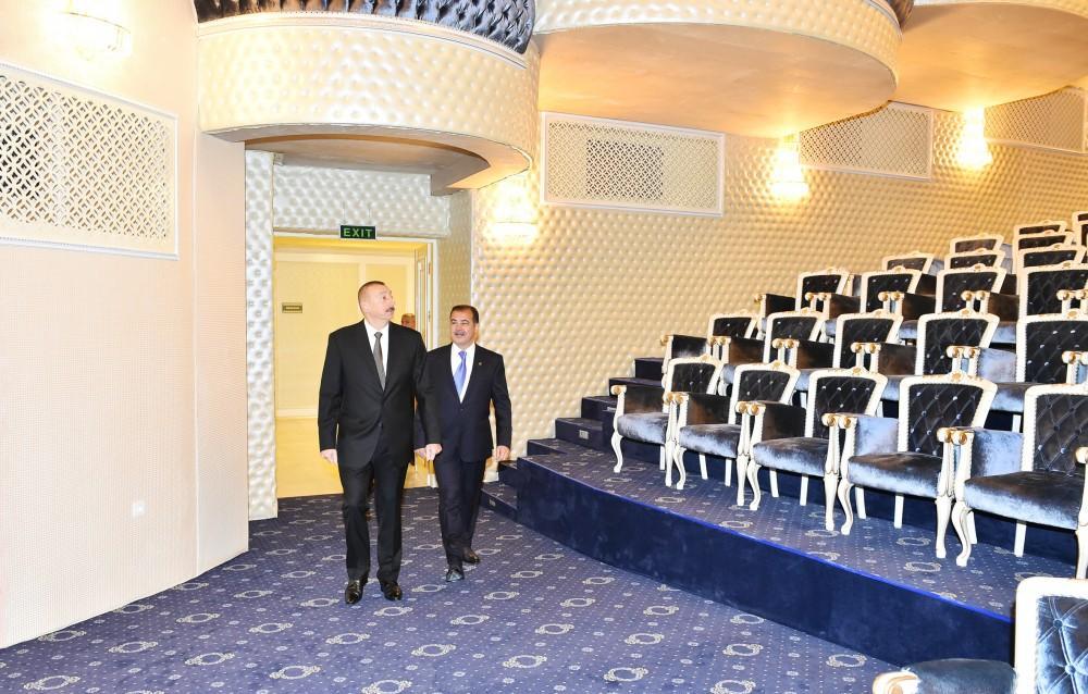 Azerbaijani president inaugurates new building of Ganja State Philarmonic (PHOTO) - Gallery Image