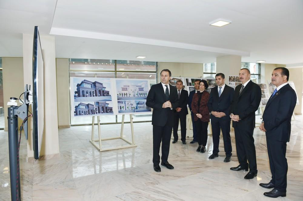 President Aliyev views construction of Majestic Palace hotel in Ganja (PHOTO) - Gallery Image