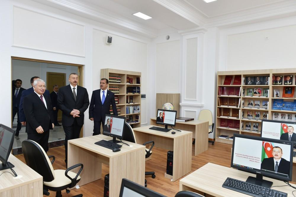 Ilham Aliyev inaugurates newly-built dormitory of State Agricultural University (PHOTO) - Gallery Image