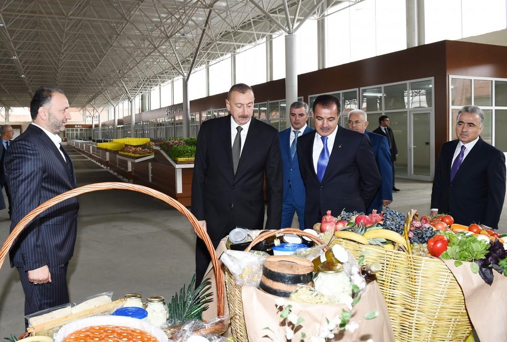Ilham Aliyev attends opening of 'Grand Qafqaz' trade complex in Ganja city (PHOTO)