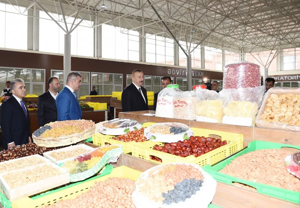 Ilham Aliyev attends opening of 'Grand Qafqaz' trade complex in Ganja city (PHOTO) - Gallery Image