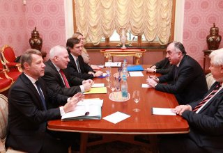 Azerbaijani FM meets OSCE Minsk Group co-chairs in Moscow