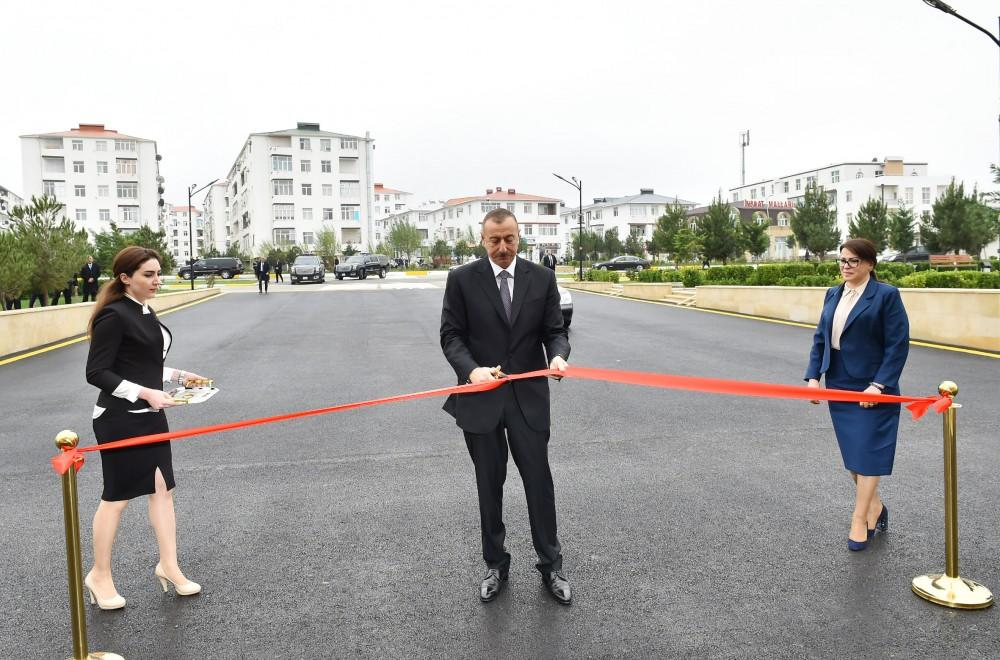 Ilham Aliyev inaugurates newly built secondary school in Masazir (PHOTO)