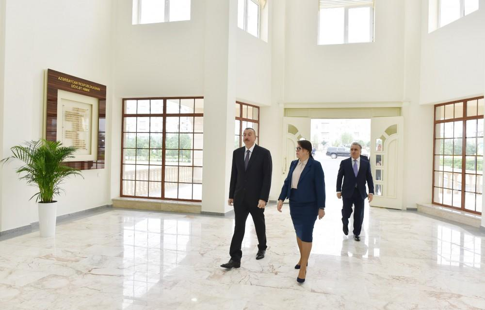 Ilham Aliyev inaugurates newly built secondary school in Masazir (PHOTO) - Gallery Image