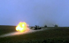Azerbaijan's Armed Forces hold combat firing during Command-Staff War Games (PHOTO) - Gallery Thumbnail