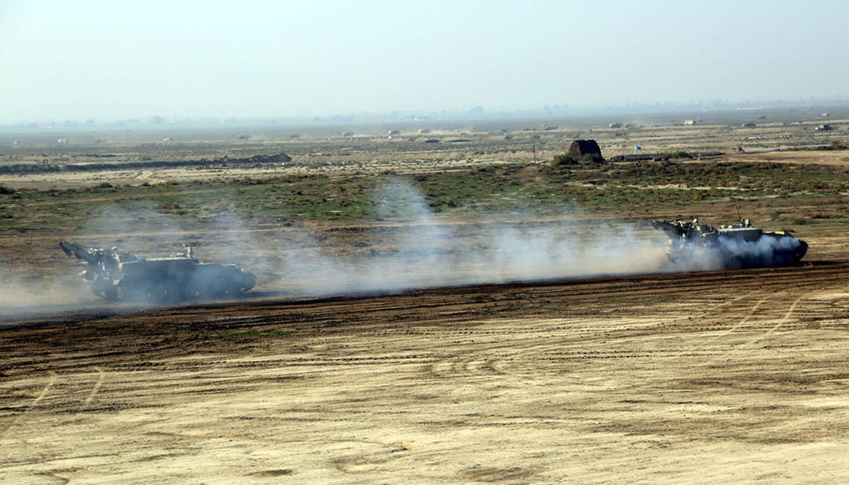 Azerbaijan's Armed Forces hold combat firing during Command-Staff War Games (PHOTO) - Gallery Image