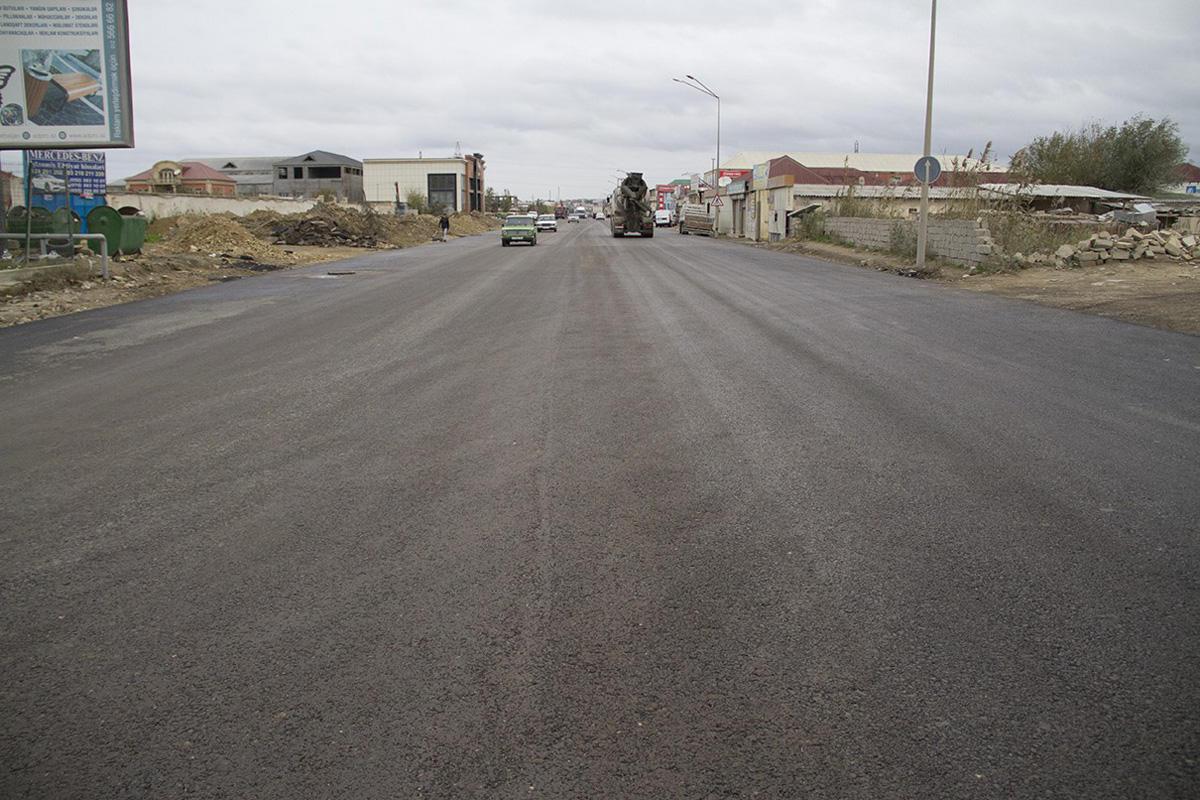 Восстановлено движение автомобилей на Бинагадинском шоссе в Баку (ФОТО) - Gallery Image