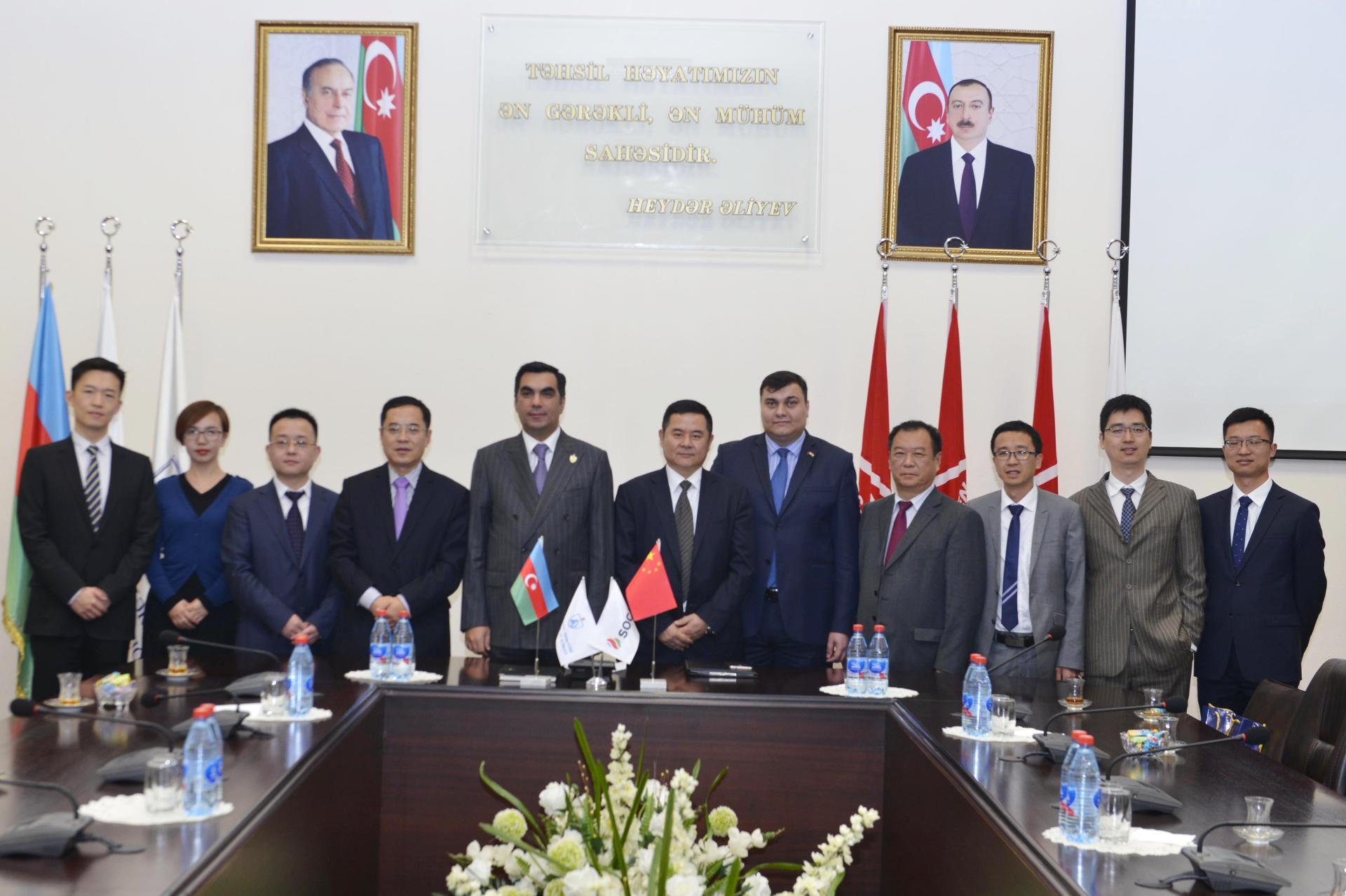 Китайская компания CMIG будет сотрудничать с Бакинской Высшей школой нефти