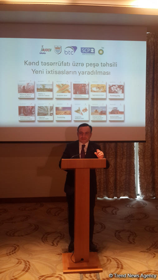 BP, Azerbaijani education ministry extending project in agricultural sphere (PHOTO) - Gallery Image