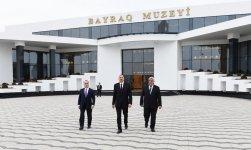 Президент Ильхам Алиев принял участие в открытии Музея флага в Сабирабаде (ФОТО) - Gallery Thumbnail
