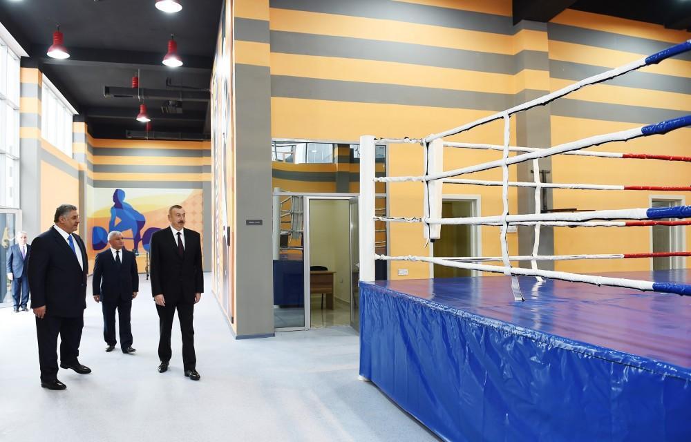 Prezident İlham Əliyev Ağcabədi Olimpiya İdman Kompleksinin açılışında iştirak edib (FOTO) (YENİLƏNİB) - Gallery Image