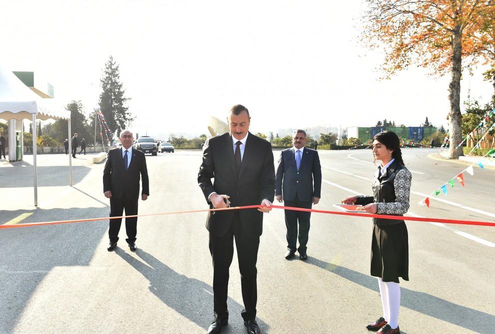 Ilham Aliyev inaugurates Tartar-Seydimli-Garadaghli-Sarov highway (PHOTO)