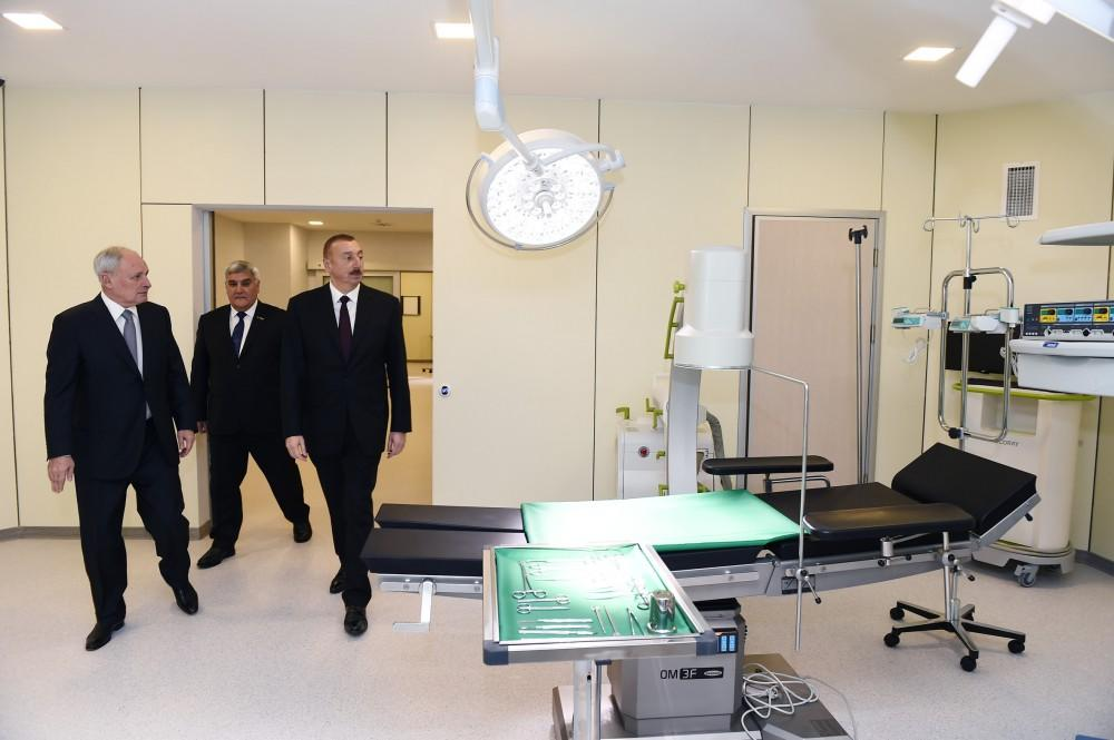 Ilham Aliyev attends inauguration of Sabirabad District Central Hospital (PHOTO)
