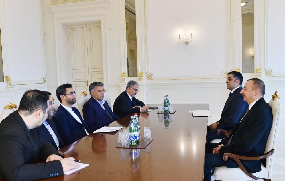 Azərbaycan Prezidenti İranın rabitə və informasiya texnologiyaları nazirini qəbul edib (FOTO) (YENİLƏNİB) - Gallery Image