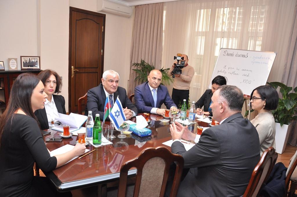 ADU-nun rektoru Kamal Abdulla İsrail səfiri ilə görüşüb (FOTO) - Gallery Image