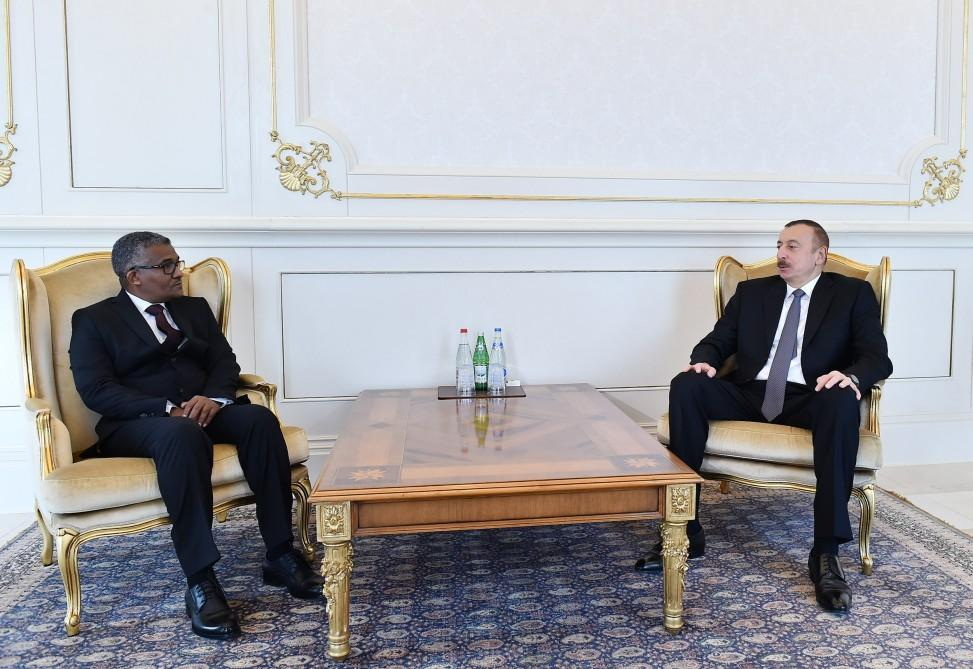 President Aliyev receives credentials of incoming Sudanese ambassador (PHOTO)