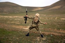 Azerbaijani Armed Forces' trainings underway (PHOTO) - Gallery Thumbnail