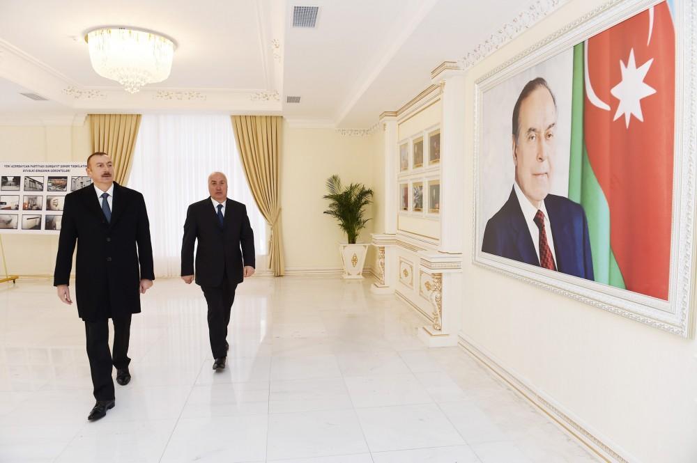President Aliyev inaugurates administrative building of YAP Sumgayit branch (PHOTO)