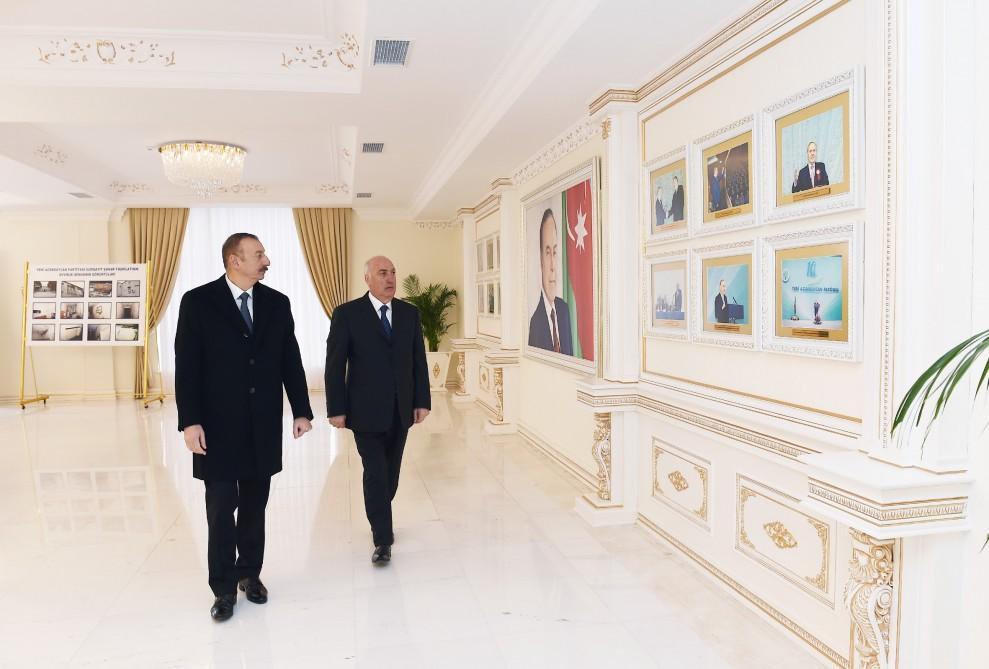 Prezident İlham Əliyev YAP Sumqayıt şəhər təşkilatının inzibati binasının açılışında iştirak edib (FOTO)(YENİLƏNİB) - Gallery Image